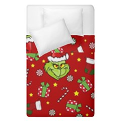 Grinch Pattern Duvet Cover Double Side (single Size) by Valentinaart