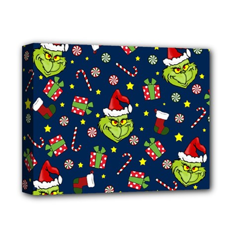 Grinch Pattern Deluxe Canvas 14  X 11