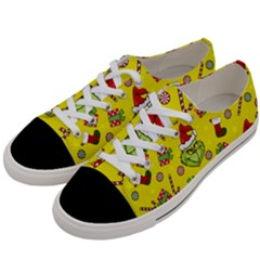 Grinch Pattern Women s Low Top Canvas Sneakers by Valentinaart