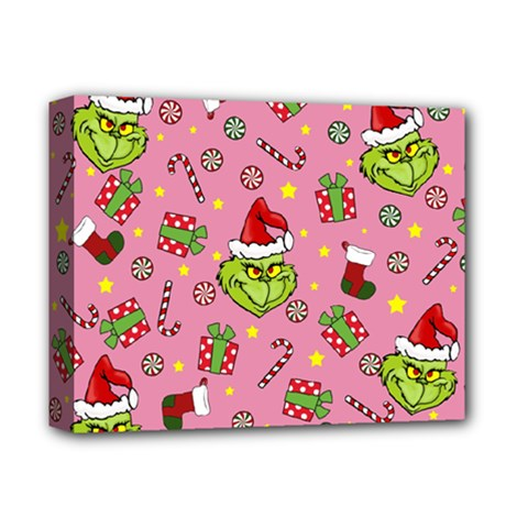 Grinch Pattern Deluxe Canvas 14  X 11  by Valentinaart