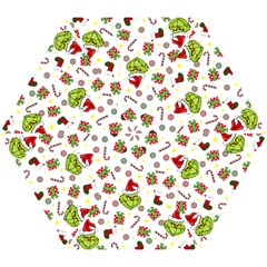 Grinch Pattern Mini Folding Umbrellas