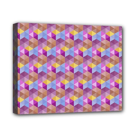 Hexagon Cube Bee Cell Pink Pattern Canvas 10  X 8
