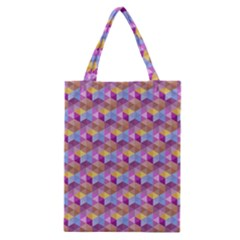 Hexagon Cube Bee Cell Pink Pattern Classic Tote Bag