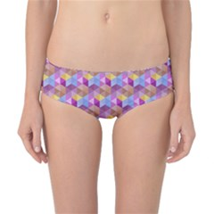 Hexagon Cube Bee Cell Pink Pattern Classic Bikini Bottoms