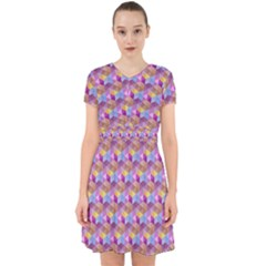 Hexagon Cube Bee Cell Pink Pattern Adorable In Chiffon Dress