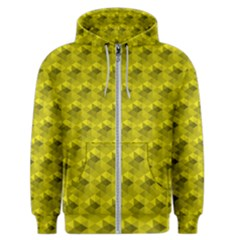 Hexagon Cube Bee Cell  Lemon Pattern Men s Zipper Hoodie