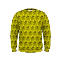 Hexagon Cube Bee Cell  Lemon Pattern Kids  Sweatshirt