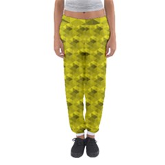 Hexagon Cube Bee Cell  Lemon Pattern Women s Jogger Sweatpants