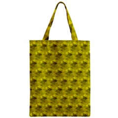 Hexagon Cube Bee Cell  Lemon Pattern Zipper Classic Tote Bag