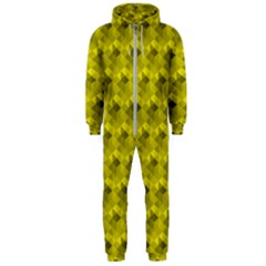 Hexagon Cube Bee Cell  Lemon Pattern Hooded Jumpsuit (men)