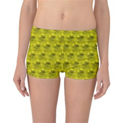 Hexagon Cube Bee Cell  Lemon Pattern Boyleg Bikini Bottoms by Cveti
