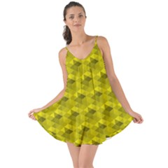 Hexagon Cube Bee Cell  Lemon Pattern Love The Sun Cover Up
