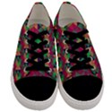 Hexagon-Cube-Bee cell Pink Pattern Men s Low Top Canvas Sneakers View1