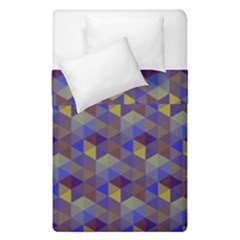 Hexagon-cube-bee Cell Purple Pattern Duvet Cover Double Side (single Size)
