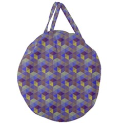 Hexagon-cube-bee Cell Purple Pattern Giant Round Zipper Tote