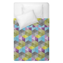 Hexagon-cube-bee Cell 1 Pattern Duvet Cover Double Side (single Size)