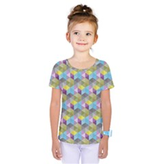 Hexagon-cube-bee Cell 1 Pattern Kids  One Piece Tee