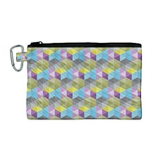 Hexagon Cube Bee Cell 1 Pattern Canvas Cosmetic Bag (m) by Cveti