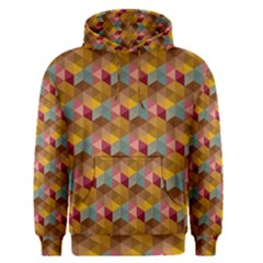 Hexagon Cube Bee Cell 2 Pattern Men s Pullover Hoodie by Cveti