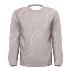Rose Gold, Wave,beautiful,feminine,chic,elegant,metallic,modren,wedding,pink,trendy Men s Long Sleeve Tee by 8fugoso
