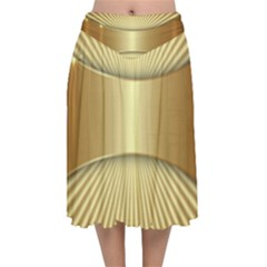 Gold8 Velvet Flared Midi Skirt by 8fugoso
