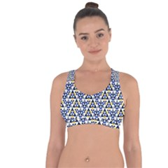 Snowflake With Crystal Shapes Cross String Back Sports Bra
