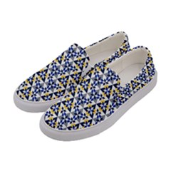 Snowflake With Crystal Shapes Women s Canvas Slip Ons by Cveti