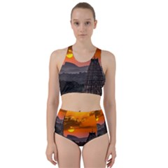 Beautiful Village Of Hampi Racer Back Bikini Set