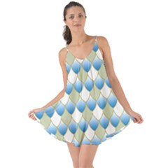 Squama Fish Blue Pattern Love The Sun Cover Up by Cveti