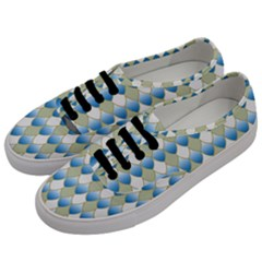 Squama Fish Blue Pattern Men s Classic Low Top Sneakers by Cveti