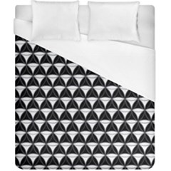 Diamond Pattern Black White Duvet Cover (california King Size)