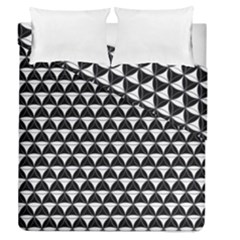 Diamond Pattern Black White Duvet Cover Double Side (queen Size) by Cveti