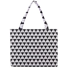 Diamond Pattern White Black Mini Tote Bag by Cveti