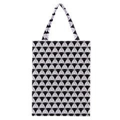 Diamond Pattern White Black Classic Tote Bag by Cveti