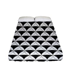 Diamond Pattern White Black Fitted Sheet (full/ Double Size) by Cveti
