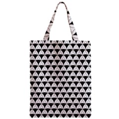 Diamond Pattern White Black Zipper Classic Tote Bag by Cveti