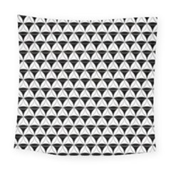 Diamond Pattern White Black Square Tapestry (large) by Cveti