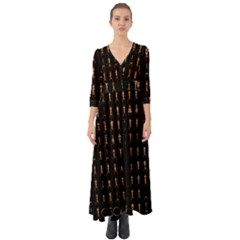 85 Oscars Button Up Boho Maxi Dress