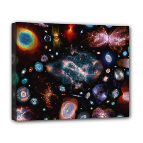 Galaxy Nebula Deluxe Canvas 20  X 16   by Celenk