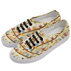 Autumn Owls Pattern Women s Classic Low Top Sneakers by Celenk