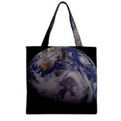 A Sky View Of Earth Zipper Grocery Tote Bag