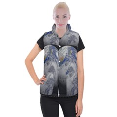 A Sky View Of Earth Women s Button Up Puffer Vest