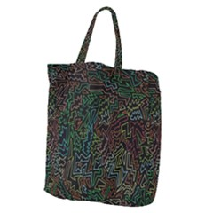 Zigs And Zags Giant Grocery Zipper Tote