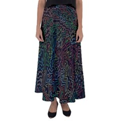 Zigs And Zags Flared Maxi Skirt