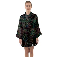 Zigs And Zags Long Sleeve Kimono Robe