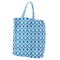 Blue Leaves Eyes Giant Grocery Zipper Tote by Cveti