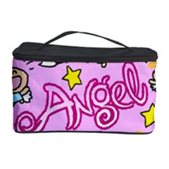 Pink Angel Star Cosmetic Storage Case by Celenk