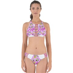 Pink Angel Star Perfectly Cut Out Bikini Set by Celenk