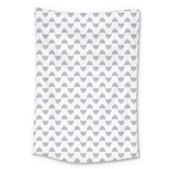 Wave Pattern White Grey Large Tapestry by Cveti