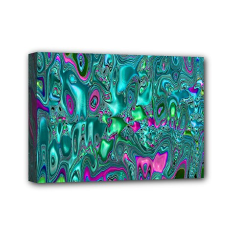Melted Fractal 1c Mini Canvas 7  X 5  by MoreColorsinLife